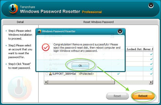 remove Windows Server 2008 password